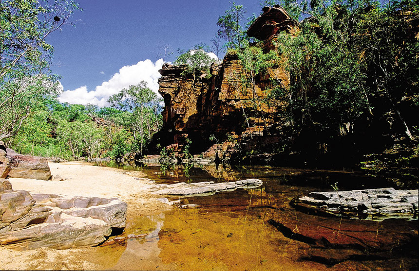 Umbrawarra Gorge courtesy of NTTC Northern Territory tourism for Katherine regional tourism