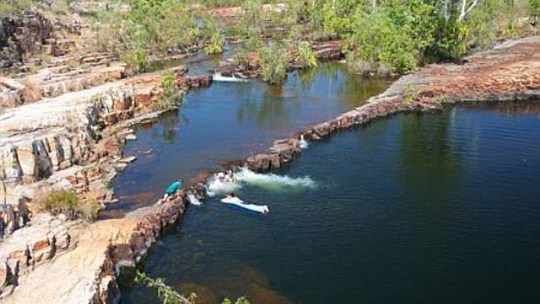 Sweet water pool courtesy of NTTC Northern Territory tourism for Katherine regional tourism